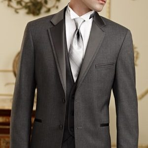 Charcoal tuxedo and charcoal vest