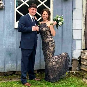 Prom Couple in Blue